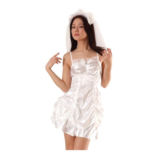セクシーサテンウェディングドレス01