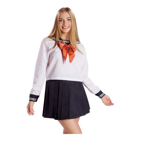セーラー服長袖 ホワイト 01