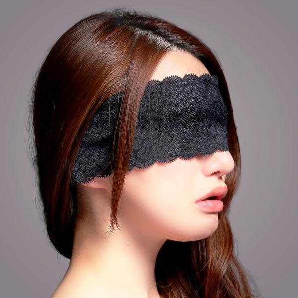 マイクロファイバーレース付アイマスク