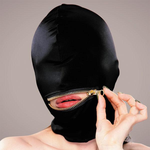 マイクロファイバー口開きジッパーマスク
